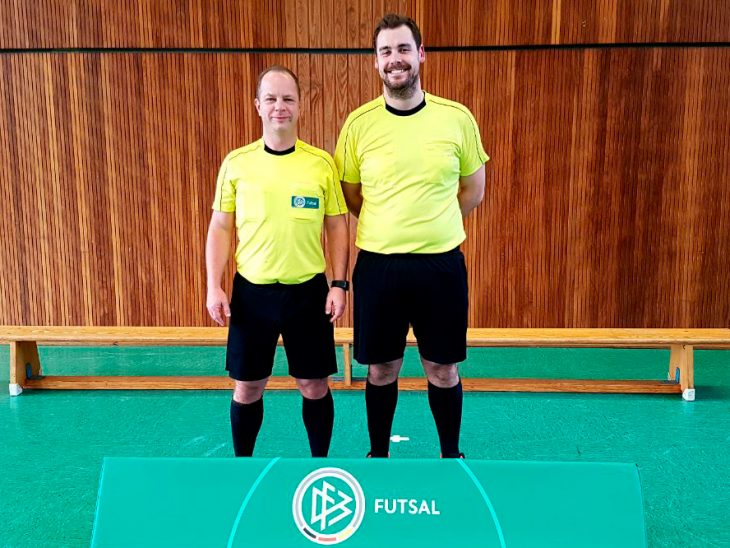 Marcus Schierbaum und Florian Deckwert beim Futsal